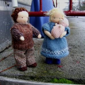 Mutter und Vater fürs Puppenhaus meiner Enkelin